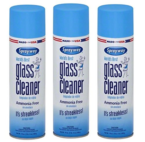 Sprayway 19 Oz Glass Cleaner Aerosol Pack of 3 Made in USA Brand New and Fast Shipping