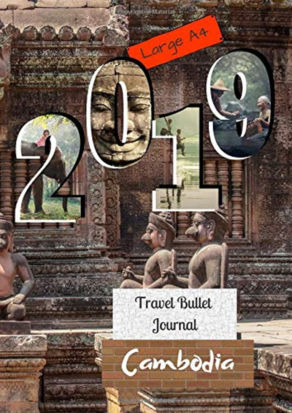 Large A4 2019 Travel Bullet Journal Cambodia: Turn your adventures into a life-long memory with this notebook planner and organzier.