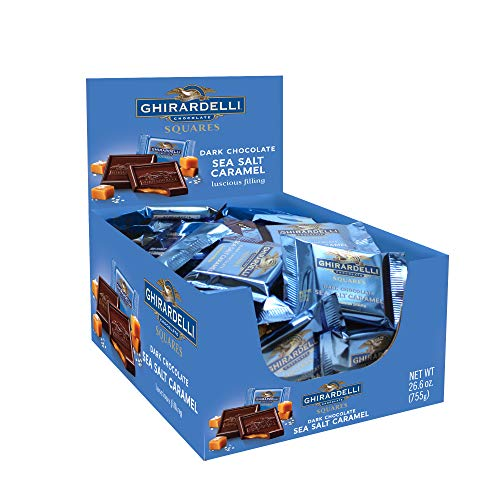 Ghirardelli Dark amp Sea Salt Caramel Chocolate Squares 053 Ounce 50 count