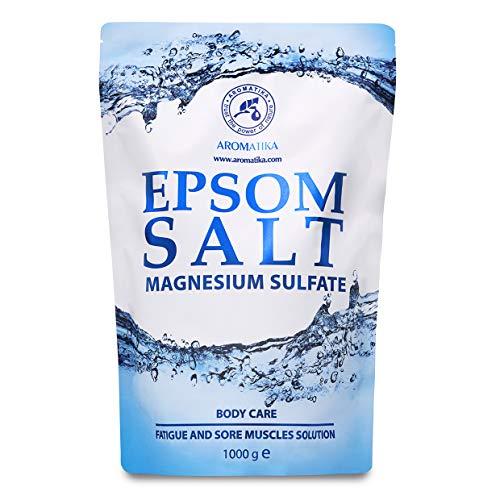 Epsom Salz Badesalz 1kg - 1000g - 100% Natürliches Salz - Konzentrierte Magnesiumquelle - Lindert Muskelkater - Wohltuendes & Wärmendes – stärkt Immunsystem- Körperpflege - für Guten Schlaf