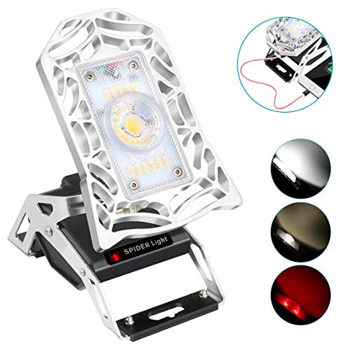LED Rechargeable Lantern- Rover Mobile Task Light, Deformable LED Work Lights 1200 Lumen Rechargeable Task Light for Garage, Workshop,Camping, Hiking and Fishing