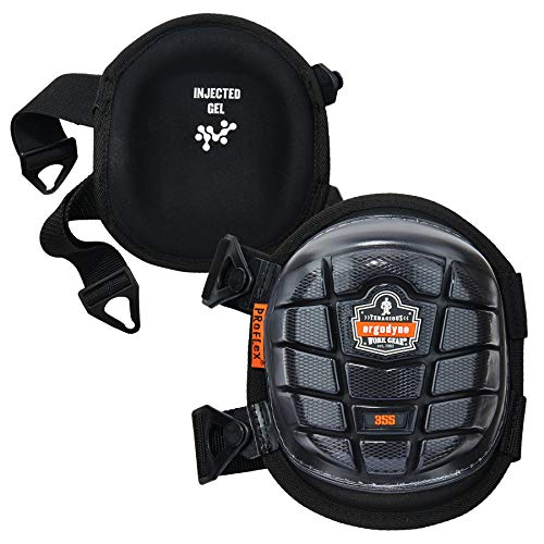 Ergodyne ProFlex 355 - Rodilleras de gel inyectadas, color negro