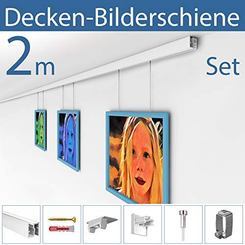 Strüßmann Decken Bilderschienen Set | D200 | 2 Meter Komplett Set