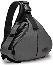 CADeN Camera Bag Sling Backpack Camera Case Waterproof with Rain Cover Tripod Holder, Compatible for DSLR/SLR Mirrorless Cameras (Canon Nikon Sony Pentax) and Accessories Grey