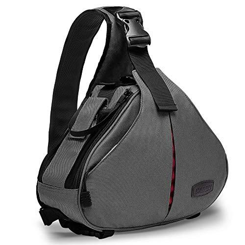 CADEN Water-Repellent Camera Crossbody Bag, Compact Camera Sling Case