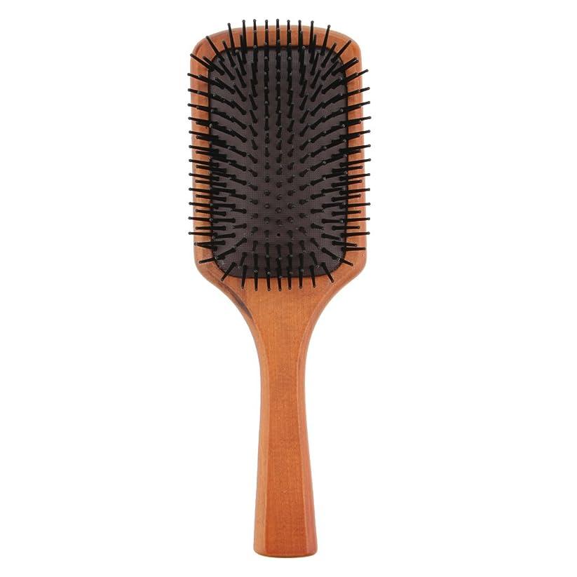 遮るライムアクセルFenteer 木製櫛 ヘアブラシ 頭皮マッサージ エアクッション 櫛