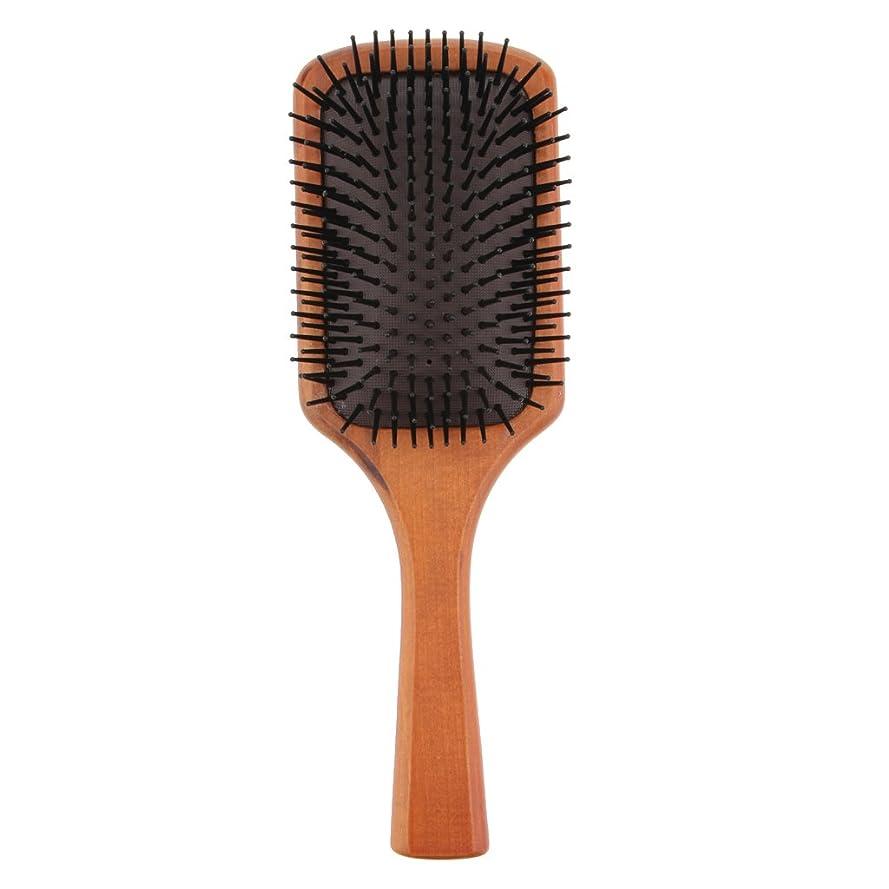 カレンダークロール飾るFenteer 木製櫛 ヘアブラシ 頭皮マッサージ エアクッション 櫛