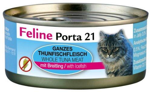 Feline Porta Katzenfutter Feline Porta 21 Thunfisch plus Breitling 156 g, 6er Pack (6 x 156 g)