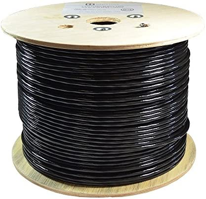 Dripstone 1000ft CAT5e FTP Foil Direct Burial Solid Bare Copper Ethernet Cable 23AWG CMX Waterproof product image
