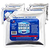 Cooler Shock Reusable Ice Packs (Set of5) - Long Lasting Cold Freezer Packs for Coolers & Lunch Bags - Compress For Knee Injuries, Back Pain Relief, Post-Surgery Accessories