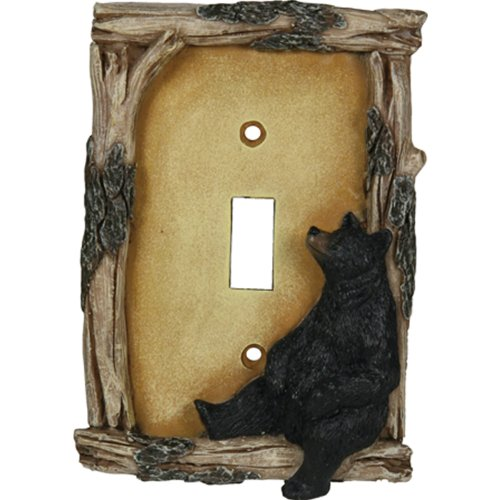 Rivers Edge 617 Switch Plate Cover Single - Bear