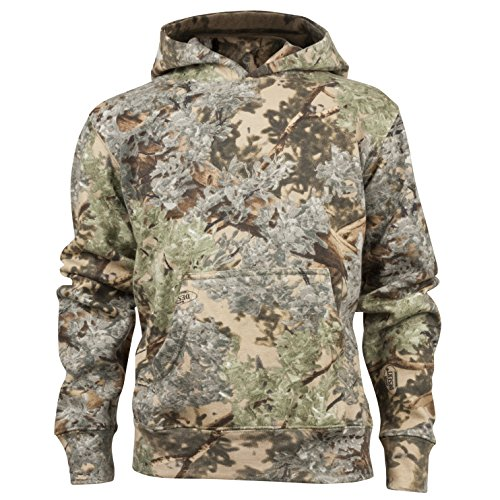 King's Camo Kids Camo Cotton Hunting Hoodie, Desert Shadow, Medium