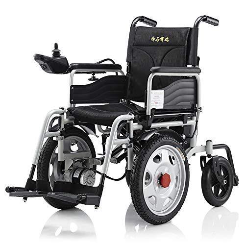 Silla de ruedas eléctrica ligera plegable y de viaje para adultos, silla de rueda de transporte motorizada, silla aprobada por la FDA para silla de ruedas automatizada