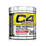 Cellucor C4 Ripped Pre-Workput Booster Trainingsbooster Bodybuilding 180g (Icy Blue Razz - Himmbeere)