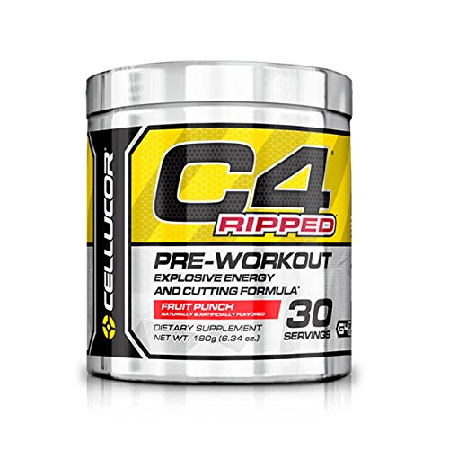 Cellucor C4 Ripped Pre-Workput Booster Training Booster 180g (ICY Blue Razz - Raspberry)