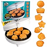 Sea Creature Mini Waffle Maker- Create 7 Different Ocean Animal Shapes in Minutes, Make Breakfast Fun and Cool for Kids & Adults with Novelty Aquatic Pancakes - Electric Non-Stick Waffler Iron