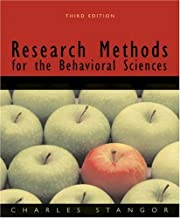 By Charles (Charles Stangor) Stan Research Methods for the Behavioral Sciences (3rd Edition)