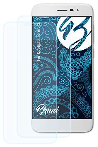 Bruni Schutzfolie kompatibel mit Coolpad Torino S Folie, glasklare Bildschirmschutzfolie (2X)