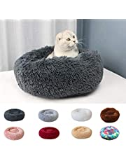 Goolsky Soft Plush Round Pet Bed Cat Soft Bed Cat Bed for Cats Small Dogs