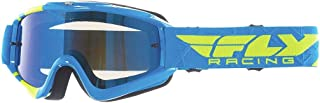 Fly Racing Zone Goggle (Hi-Vis/Blue Chrome/Smoke, One Size)