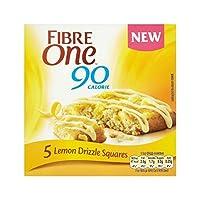 レモン霧雨の正方形の120グラム (Fibre One) (x 2) - Fibre One Lemon Drizzle Squares 120g (Pack of 2)