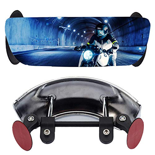 Dasbecan Motorcycle Rear Mirrors 180 Degree Wide-Angle Safety Rearview Mirror Blind Spot Mirror