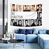 One Direction Ultra-Soft 3D HD Print Wall Hanging Tapestry Fashion Wall Home Art Home Living Room Bedroom Decorations for All Season 60x40 Inches