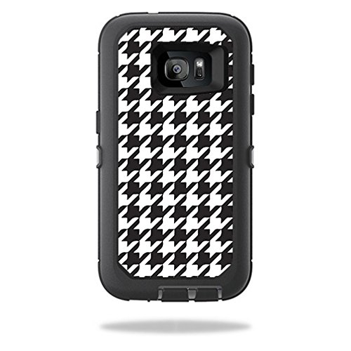 MightySkins Skin Compatible with OtterBox Defender Samsung Galaxy S7 Case – Houndstooth | Protective, Durable, and Unique Vinyl wrap Cover | Easy to Apply, Remove, and Change Styles | Made in The USA