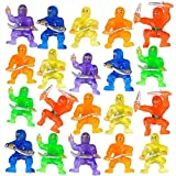 ArtCreativity Mini Ninja Figurines, Pack of 48, Assorted Colors Plastic Action Figures Playset, Little Ninja Warriors in Assorted Poses, Cool Cupcake Topper, Goodie Bag Fillers & Party Favors for Kids