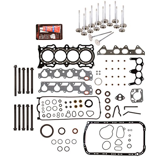 Evergreen FSHBIEV4013HP Full Gasket Set Head Bolts High Performance Intake Exhaust Valves Compatible With 94-97 2.2L Acura CL Honda Accord EX Vtec SOHC F22B1