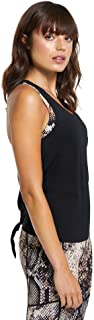 Rockwear Activewear Women's Tape Back Tank Black 14 from Size 4-18 for Singlets Tops