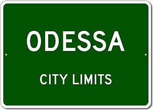 Odessa, Texas - USA City Limits Street Sign - Aluminum 10