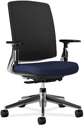 "HON Lota Mesh Mid-Back Chair - Chrome Frame Dimensions: 26.75""W x 30.75""D x 43.375""H Navy Fabric/Chrome Frame"