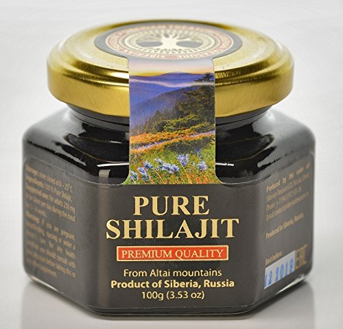 Pure Authentic Shilajit Siberian Mumijo, 100 grams, 3.5 OZ