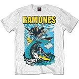 Ramones Men's Rockaway Beach Short Sleeve T-Shirt, White, XX-Large