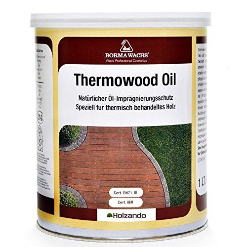 Borma Wachs 1 Liter Thermowood Natur Thermoholz Öl Holzöl (Hell - 53)