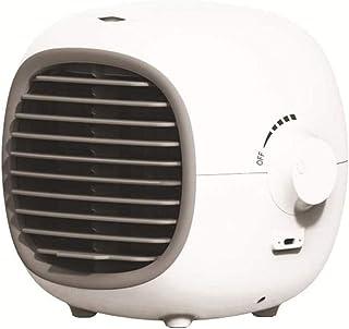 effoo Enfriador de Aire Personal, Mini Ventilador de Aire Acondicionado USB, enfriadores evaporativos de Escritorio con humidificador, Aire Acondicionado portátil Ultra silencioso-Blanco