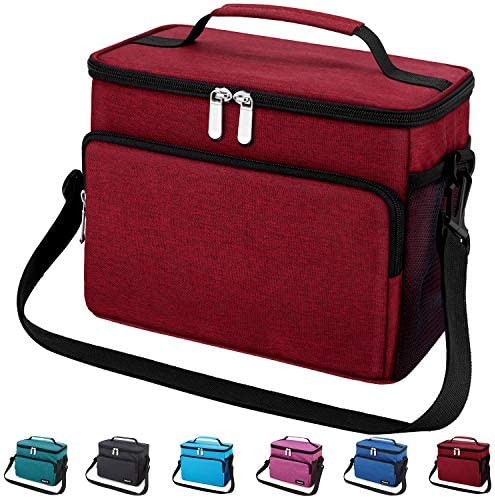Leakproof Reusable Insulated Cooler Lunch Bag Office Work School Picnic Hiking Beach Lunch Box product image