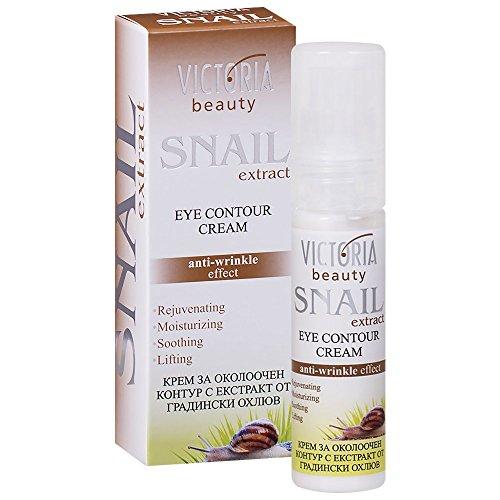 Victoria Beauty - Anti Aging Augencreme gegen Falten und Augenringe, Augenkonturencreme mit Schnecken-Extrakt für Frauen und Männer (1 x 30 ml)