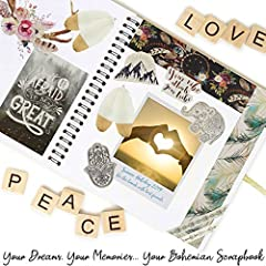 KreativeKraft Scrapbook Accessories Kit with Scrapbooking Supplies, Over 60 Creative Items Including Stickers, Glitter Glue Pens, Paper, Photo Album, Letters, Quotes, Embellishments, Gift for Her #2