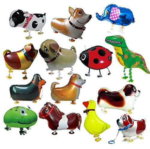 Best Deals! Xucus 200pcs/lot Mix Styles Wholesale Various Walking Animal Balloons pet Balloons Heliu...