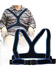 Cinturón de silla de ruedas, cinturón de fijación de silla de ruedas transpirable Correa de arnés Cinturón de silla de ruedas elástico antideslizante para ancianos Cinturón de sujeción abdominal