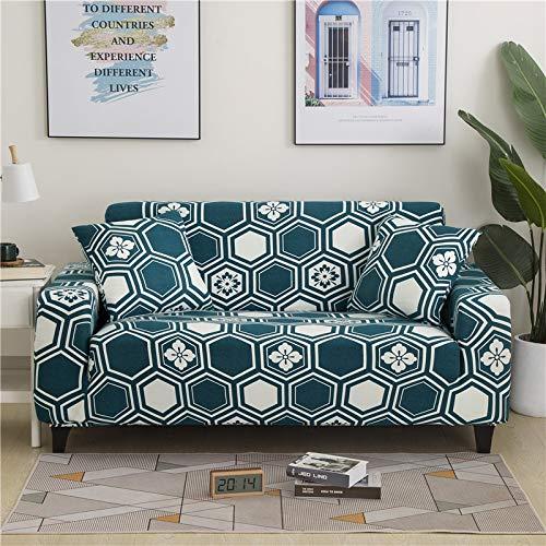 PPMP Funda de sofá elástica Floral Fundas de sofá para Sala de Estar Protector de Muebles de poliéster Fundas Funda de sofá A1 4 plazas