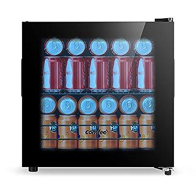 COMFEE' RCZ46BG1(E) 43L Beverage Cooler Black | Beverage Fridge | Econ Energy (Black) [Energy Class A+ (old) / G (new)] by Comfee