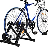 COSTWAY Fluid Bike Trainer Stand, Indoor Turbo Trainers with 8 Levels Variable Resistance, Noise Reduction, Folding Bicycle Training Stand for 26''- 28'' Wheels