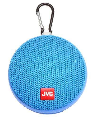JVC Portable Wireless Speaker with Surround Sound, Bluetooth 5.0, Waterproof IPX4, 7-Hour Battery Life - SPSA2BTA (Blue) (Renewed)