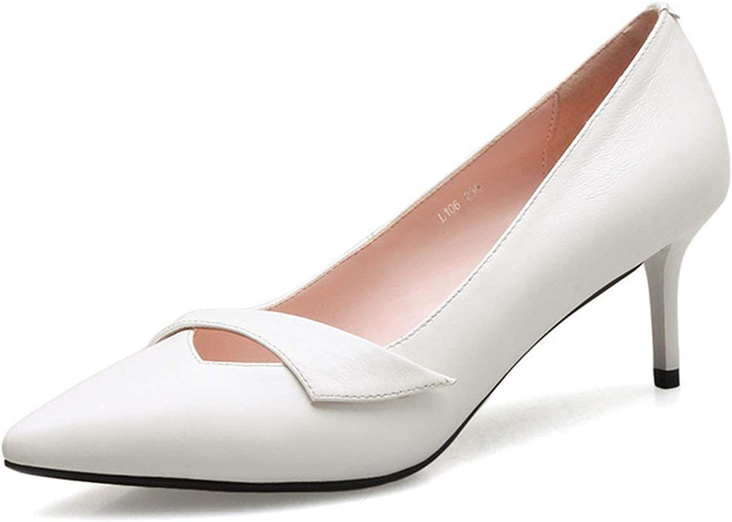 FINDYOU Sexy High Heels Dress Pumps Genuine Leather shoes Women Pointed Toe Wedding Thin Heels