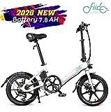 FIIDO Vélo électrique Pliant D3s, vélo électrique en Aluminium de 16 Pouces pour Adultes, vélo électrique à 6 Vitesses avec Batterie au Lithium intégrée de 36V 7.8AH, Moteur sans balais 250W (Blanc)