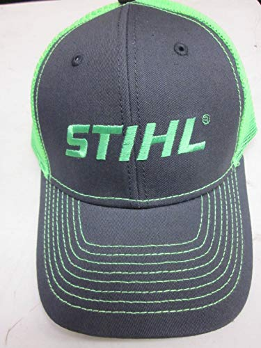 Stihl Officially Licensed Chainsaw Neon Mesh Back Cap Adjustable Snapback Truckers (Neon Green)