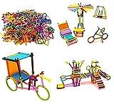 TEC TAVAKKAL Mega Jumbo Pack of Multi Color Educational Building Blocks Smart Stick with Different Shape Game Set for Kids - Smart Sticks (Big Size,300+ Pcs)